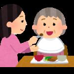 食事の介助を行う介護職員